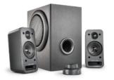 wavemaster MX3+ 2.1 Lautsprecher System (50 Watt) Aktiv-Boxen für TV/Tablet/Smartphone/PC schwarz (66503) -